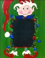Elf Chalkboard *countdown to Christmas