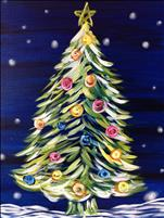 Neon Christmas Tree Family Fun  $25