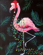 AFTERNOON ART: Festive Flamingo