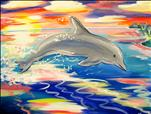 kids Week! Sunset Leaping Dolphin