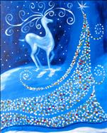 *NEW ART* Twinkly Tree with Reindeer