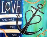 Coffee & Canvas: Anchor of Love: Save $5