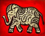 Paisley Elephant SINGLE CANVAS / ADULTS ONLY