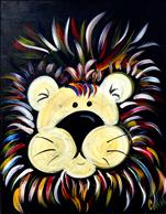 Neon Lion for Kids