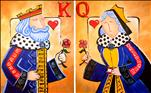 A King Queen of Hearts Set SINGLE OR COUPLE!