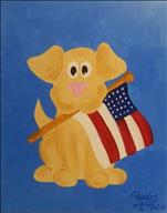 Patriotic Puppy  SUMMER KIDS CLASS