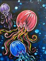 Neon Jellyfish! Family Fun Time! All Ages!