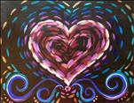 **FAMILY DAY** Swirly Neon Heart