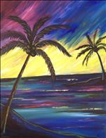 Colorful Sunset Palms