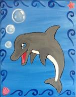 AGES 7 & UP-Bubbles the Dolphin