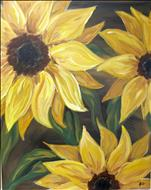 COFFEE & CANVAS - Sunflowers on Brown