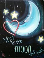 Creative Families Paint! To the Moon & Back