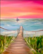 AFTERNOON ART: Caribbean Boardwalk Sunset