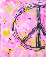 Scribbled Peace Sign {ALL AGES}