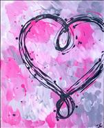 Scribbled Heart, choose your color!  Only $25!