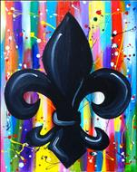 Splatter Paint Fleur De Lis - Ages 13 and Up