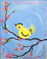 Goldfinch on Blue  SUMMER KIDS CLASS