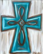 Coffee & Canvas $25: Shabby Chic Cross