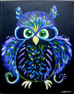 Family Fun: Cosmic Neon Owl II (6+) Black Light