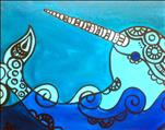 ALL AGES: *NEW ART* Blue Narwhal