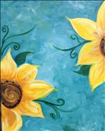 MAY FLOWERS SERIES - Sunflower on Teal