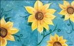 Sunflower on Teal Set