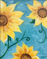 Senior Special! Sunflower on Teal
