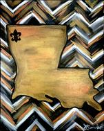 Dat Louisiana - GO SAINTS! Customize your painting