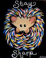 KIDS CAMP! Neon - Stay Sharp Hedgehog