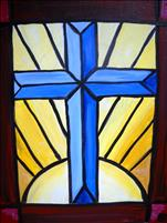 Stained Glass Cross (OPEN)