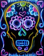 Day of The Dead  - Neon Skull (Glow Paint)
