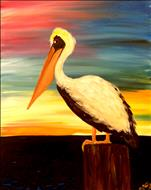 COFFEE & CANVAS: Sunset Pelican: Ages 12+