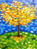 **All Ages Welcome!**  Bright Fall Tree
