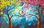 Love Trees at Night - Fun Date Night - Choose Side