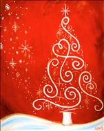 Lighted Canvas- Crimson Christmas