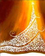 Twinkly Christmas Tree on Gold