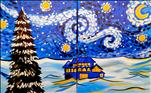 Snowy Starry Night, paint 2gether as a set or solo