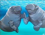 Fundraiser for Manatee Center  Pre-Sketched Canvas
