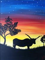 Longhorn at Sunset--minimum age 18