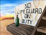No Lifeguard on Duty - Customize Your Sign!