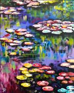 Monet's Lilies on Large Canvas
