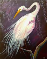 Egret - LARGE CANVAS!