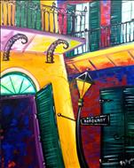 "BIG Canvas! ""French Quarter Corner"""