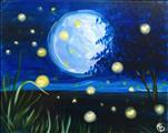 LED Lighted Canvas! Rosa's Moon