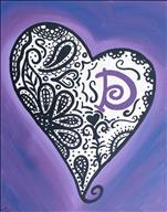 Purple Paisley Heart