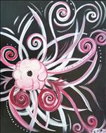 **Teen Friendly** Pink and Silver Swirl Flower