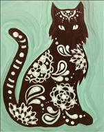 Stencil Day Special - Paisley Cat - $10 Off