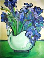 Irises in a Vase Painting with a Purpose