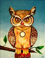 Golden Locket Owl
