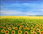 SATURDAY HAPPY HOUR: Sunflower Field